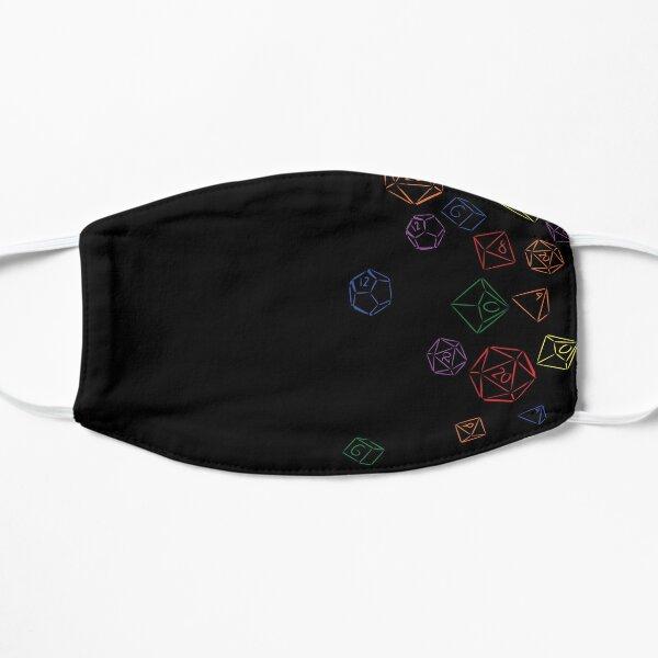 Rainbow Cascading Dice Mask