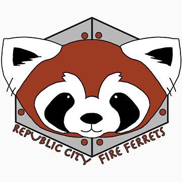 Fire Ferrets - Pro Bending League - Legend of Korra by ArtOverChaos