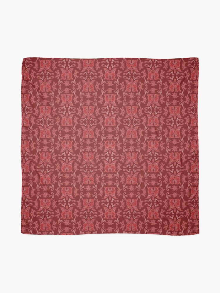 Alternate view of Burgundy + Red Slavinc Patterns Scarf