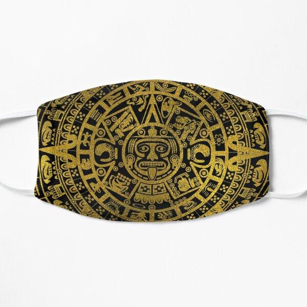 Gold  Aztec Inca Mayan Calendar Mask