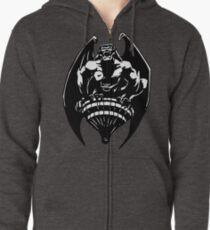 Gargoyles Goliath - Black and White  Zipped Hoodie