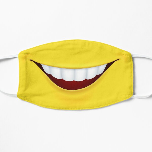Máscara divertida - boca sonriente - mascarilla Mascarilla plana