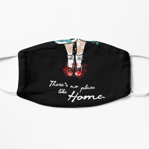 There's no place like home watercolour Flat Mask