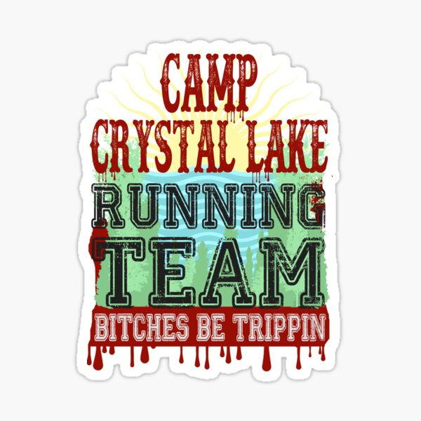 Camp Crystal Lake Running Team Sticker