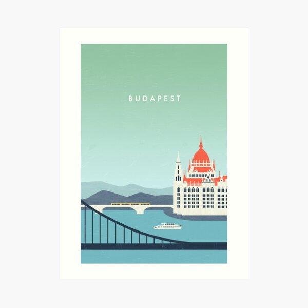 Budapest Travel Poster Kunstdruck