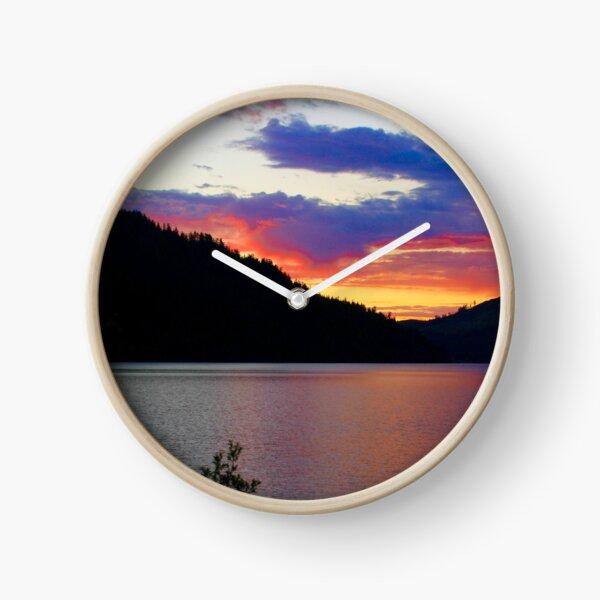 Sunset at Crescent Lake Clock