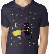 Flying Witch Cat T-Shirt