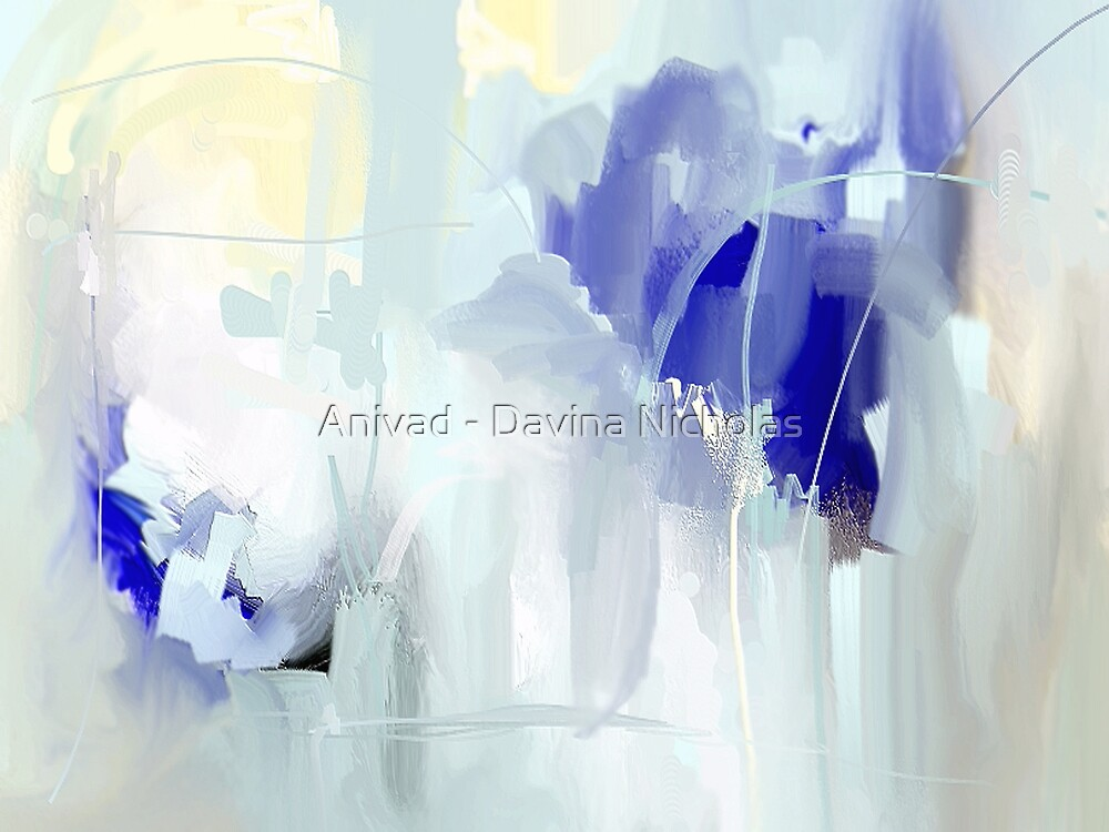 Iris blue by Anivad - Davina Nicholas