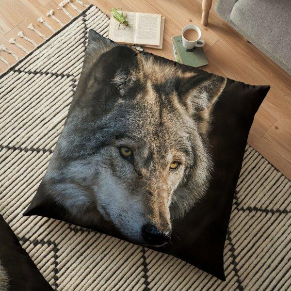 Timber Wolf Floor Pillow