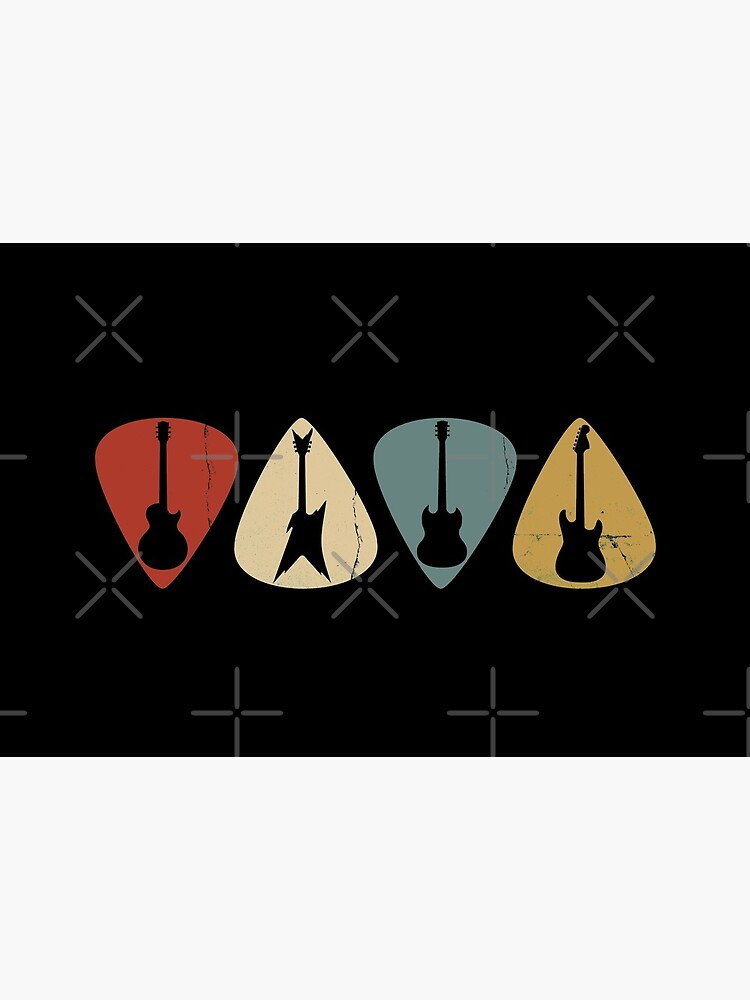 Guitar Pick Retro Electric Silhouette by playloud