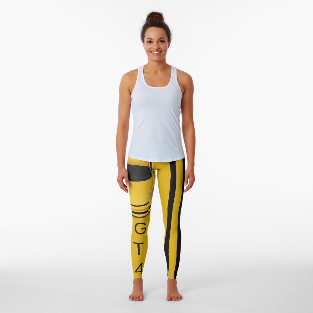 4 shades of yellow Leggings