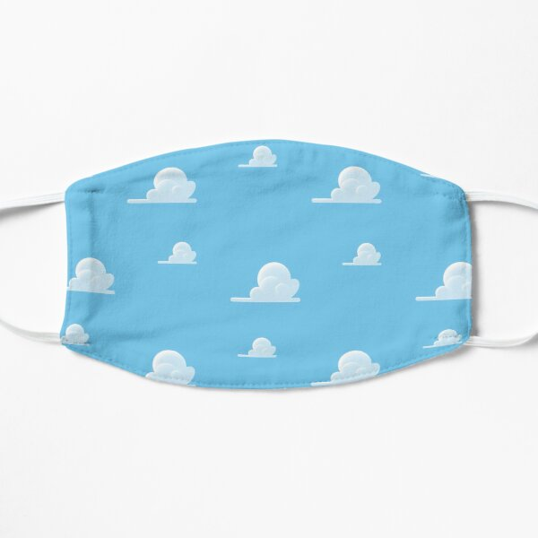 Partly Cloudy Pattern Flat Mask