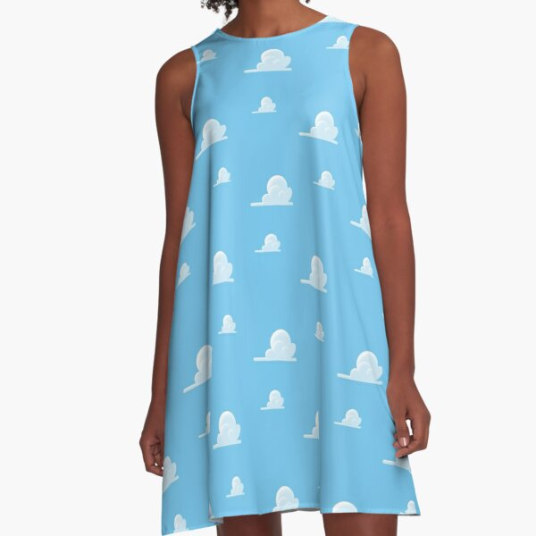 Partly Cloudy Pattern A-Line Dress