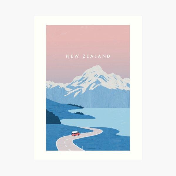 Affiche de voyage en Nouvelle-Zélande Impression artistique