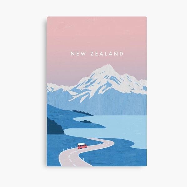 New Zealand travel poster Canvas Print