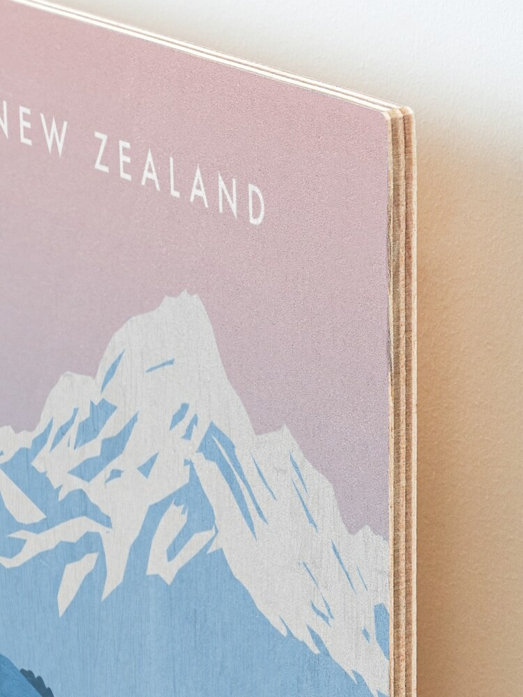 Alternate view of New Zealand travel poster Mounted Print