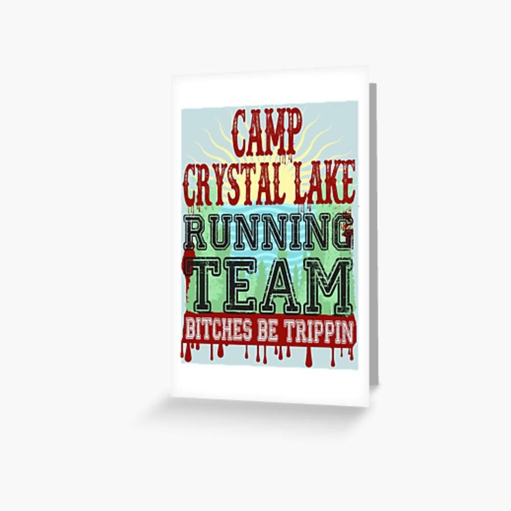 Camp Crystal Lake Running Team Greeting Card