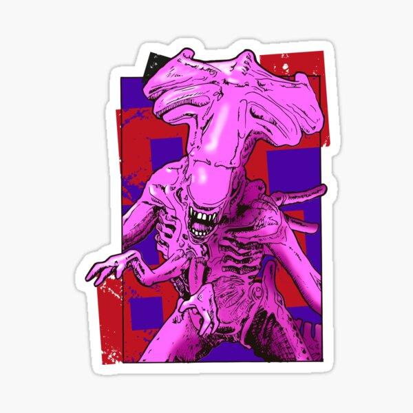 Pink Alien Queen achoprop logo Sticker