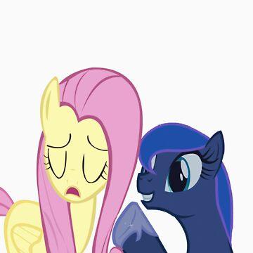 Fluttershy And Luna by Eden51