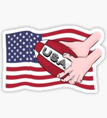 Rugby USA Flag Sticker
