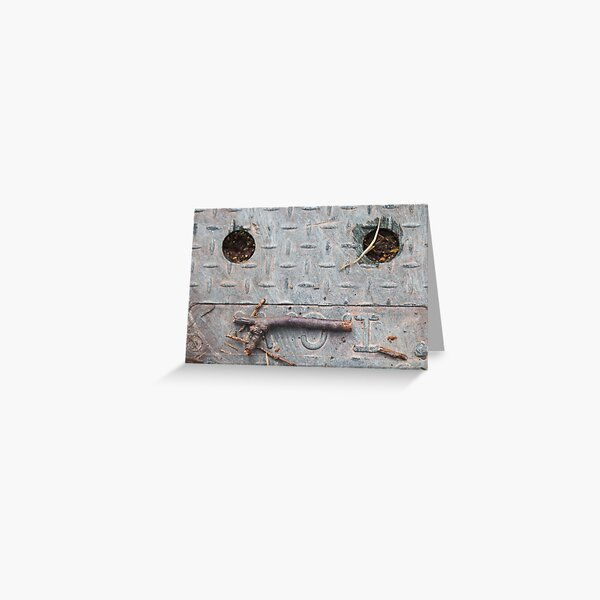 Sewer Face Greeting Card