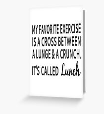 Fitness greeting cards redbubble my favorite exercise is lunch greeting card m4hsunfo