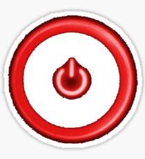 Red Power Button Sticker
