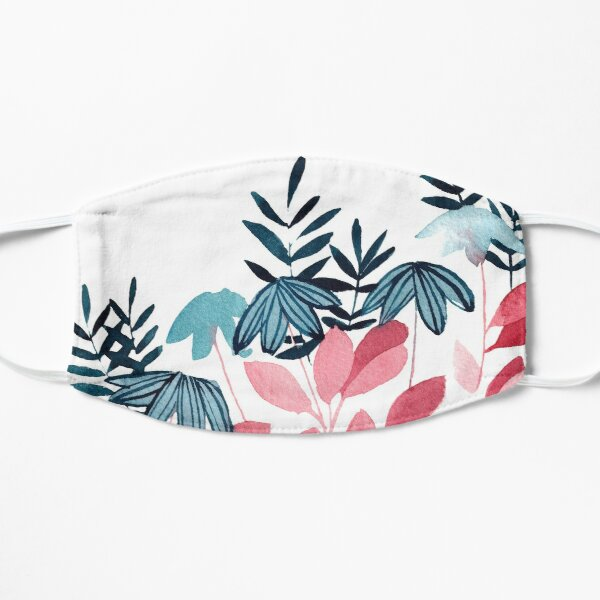 Loose Nature Floral Watercolor Pattern | Painted Natural Flower Design Mask