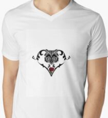 Wolf Design (with white background) Men's V-Neck T-Shirt