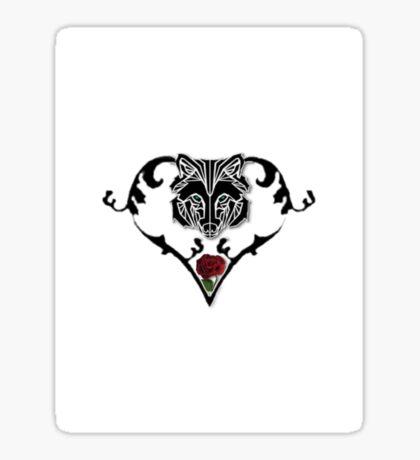 Wolf Design (with white background) Sticker