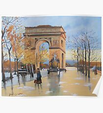 The Arc De Triomphe from Eugene Galien Laloue 1890 Poster