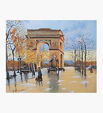 The Arc De Triomphe from Eugene Galien Laloue 1890 Photographic Print