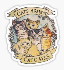 Katzen gegen Katzenanrufe Sticker