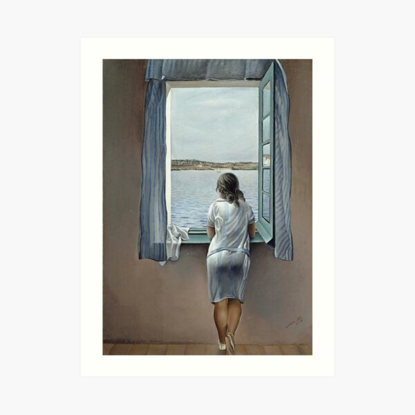 Salvador Dali Young Woman at a Window 1925 Artwork for Wall Art, Prints, Posters, Tshirts, Men, Women, Youth Art Print