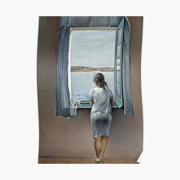 Salvador Dali Young Woman at a Window 1925 Artwork for Wall Art, Prints, Posters, Tshirts, Men, Women, Youth Poster