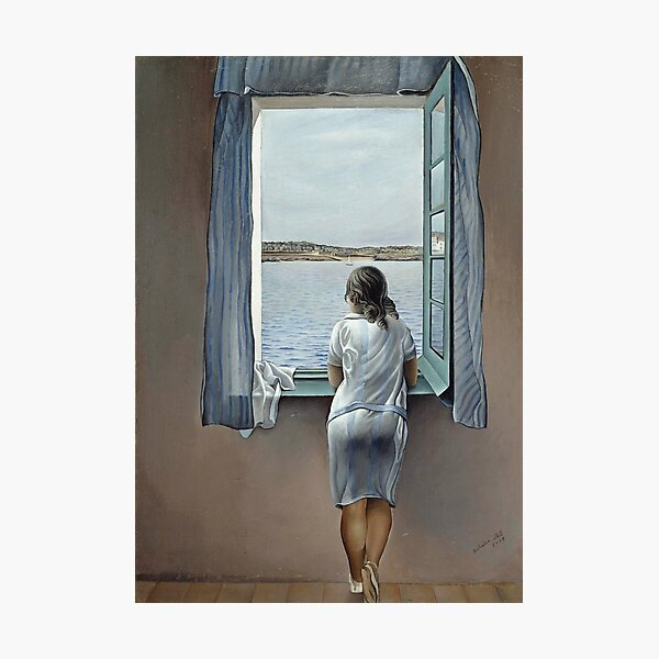 Salvador Dali Young Woman at a Window 1925 Artwork for Wall Art, Prints, Posters, Tshirts, Men, Women, Youth Photographic Print