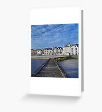 The seafront in Grandcamp Greeting Card