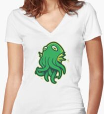 Call of Kerthulhu Women's Fitted V-Neck T-Shirt