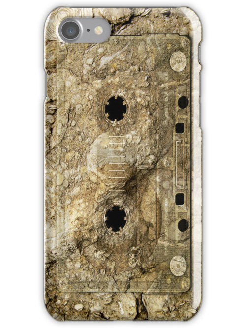 Stone Fossil Music Record Cassette Tape iPod/iPhone 4 Case by CroDesign