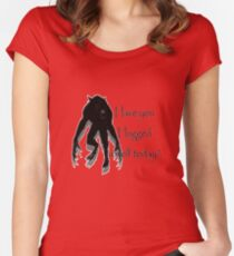 Have You Hugged a Wolf Women's Fitted Scoop T-Shirt