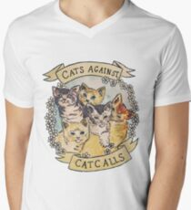 Cats Against Cat Calls Men's V-Neck T-Shirt