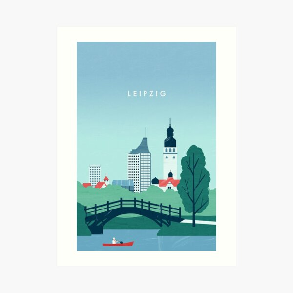 Leipzig Travel Poster Kunstdruck