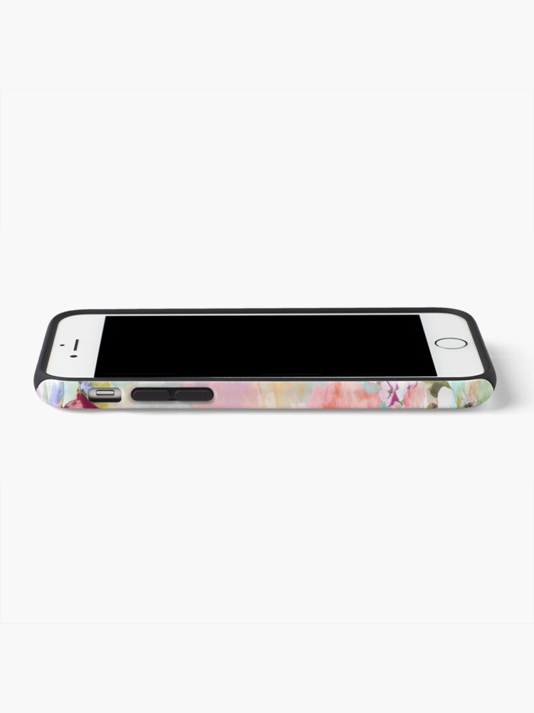 Alternate view of Romantic Pink Teal Watercolor Chic Floral Pattern iPhone Case & Cover
