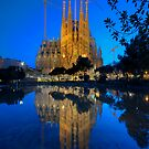 Sagrada Familia At Dusk by Yhun Suarez