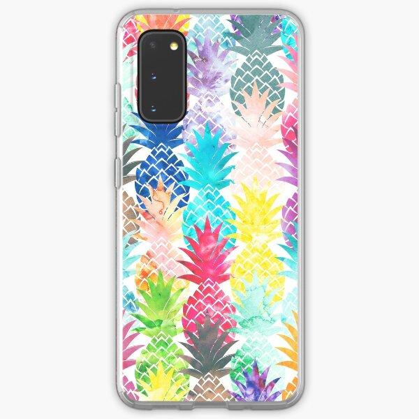 Hawaiian Pineapple Pattern Tropical Watercolor Samsung Galaxy Soft Case