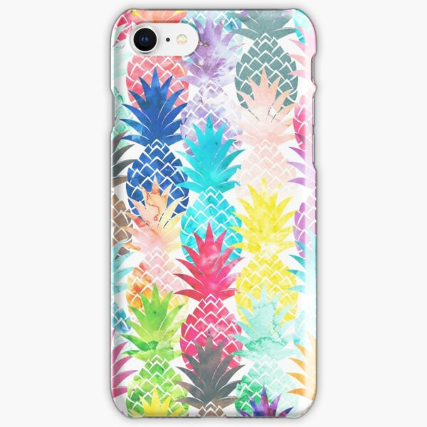 Hawaiian Pineapple Pattern Tropical Watercolor iPhone Snap Case