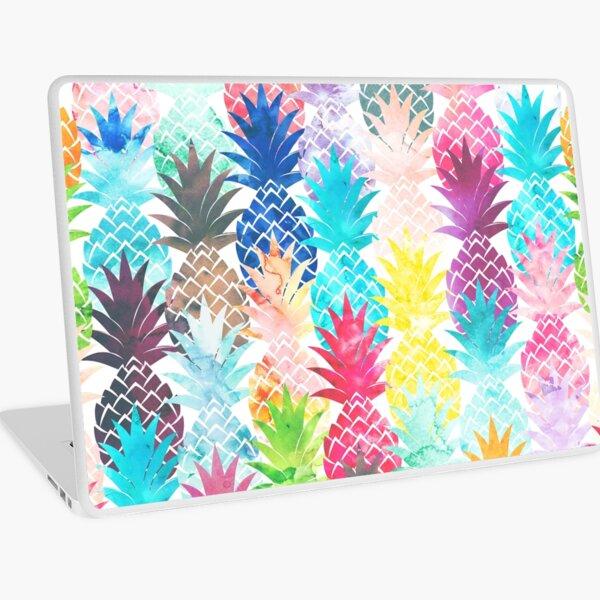 Hawaiian Pineapple Pattern Tropical Watercolor Laptop Skin