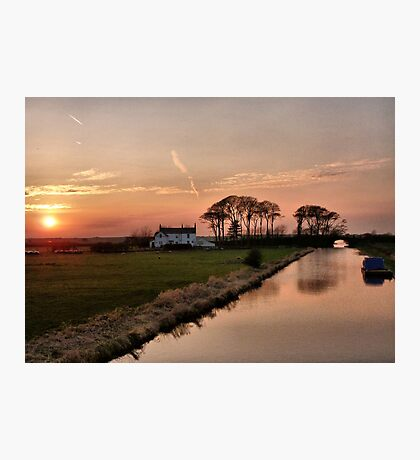 Sunset on the Lancaster Canal Photographic Print