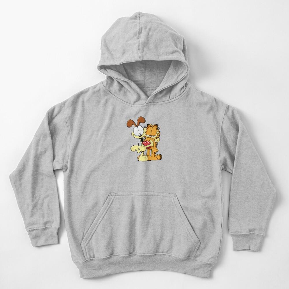 Odie hugs Garfield Kids Pullover Hoodie
