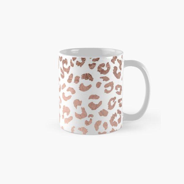 Luxurious hand drawn rose gold leopard print Classic Mug